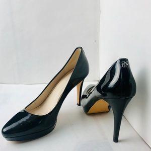 Coach Giovanna Black Patent Leather Heel Pumps